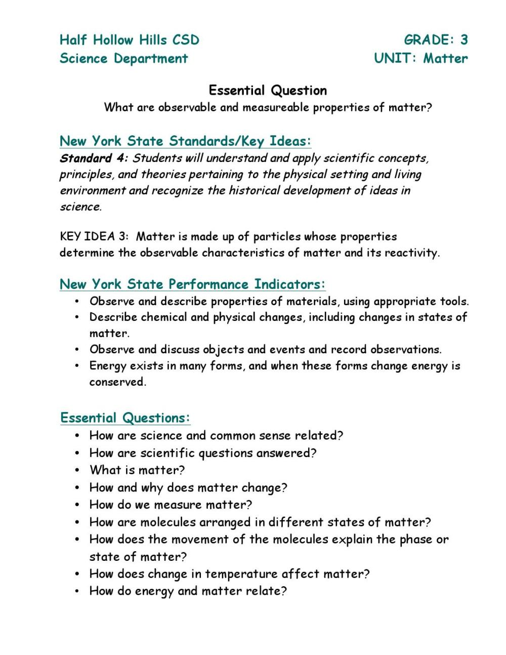 medium resolution of Grade 3 matter unit by Half Hollow Hills Schools - issuu