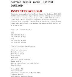 bobcat s250 s300 skid steer loader service repair manual instant download67 by edrf456 issuu [ 1058 x 1497 Pixel ]