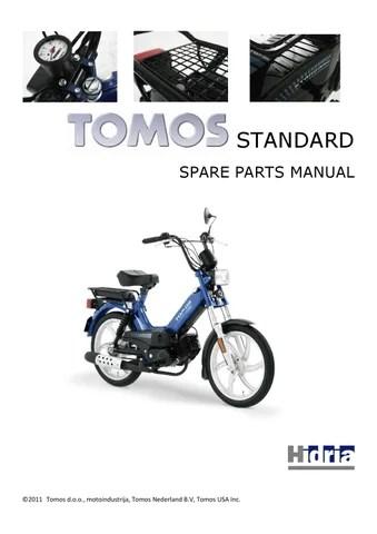 TOMOS A34daa standard 25 xl katalog rezervnih delov by