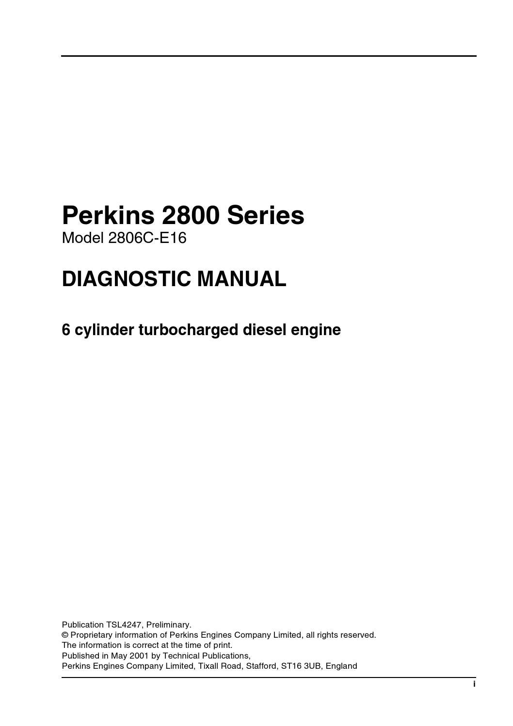 hight resolution of perkins 2800 series model 2806c e16 diagonstic manual by power generation issuu