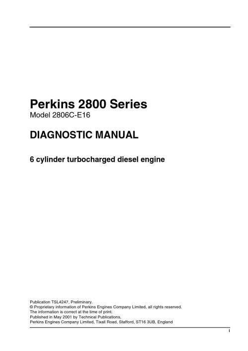 small resolution of perkins 2800 series model 2806c e16 diagonstic manual by power generation issuu