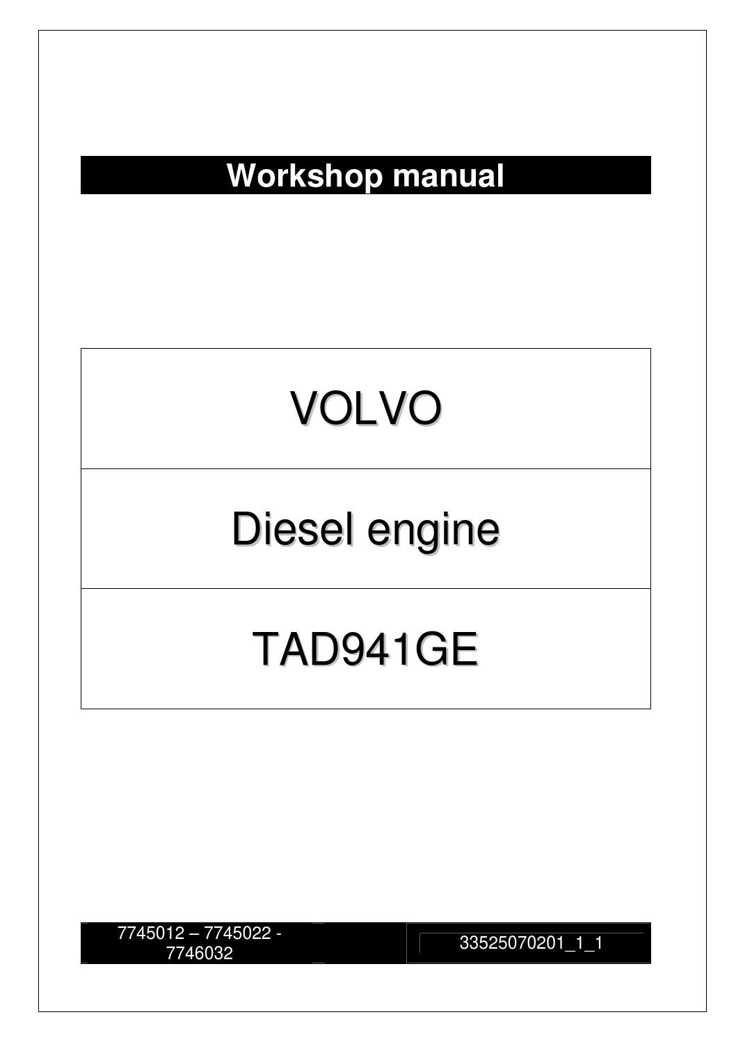 hight resolution of  page 1 workshop manual volvo tad941ge engine by power generation issuu at cita asia volvo penta oxi engine wiring schematic