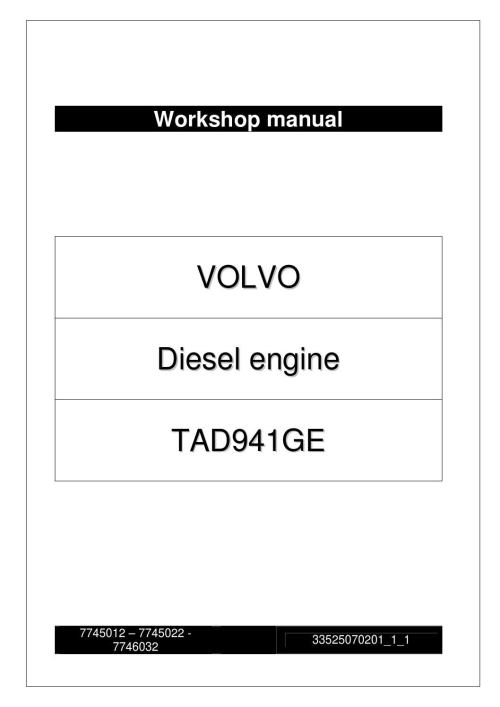 small resolution of  page 1 workshop manual volvo tad941ge engine by power generation issuu at cita asia volvo penta oxi engine wiring schematic