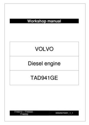 WORKSHOP MANUAL VOLVO TAD941GE Engine by Power Generation  Issuu