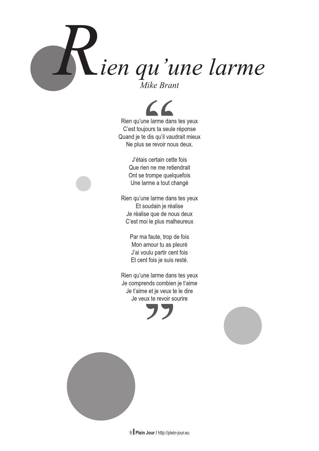 Rien Qu'une Larme Dans Tes Yeux : qu'une, larme, Combe, Issuu