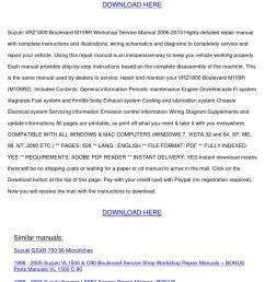 suzuki vzr1800 boulevard m109r service manual by marymcclung issuu [ 1058 x 1497 Pixel ]