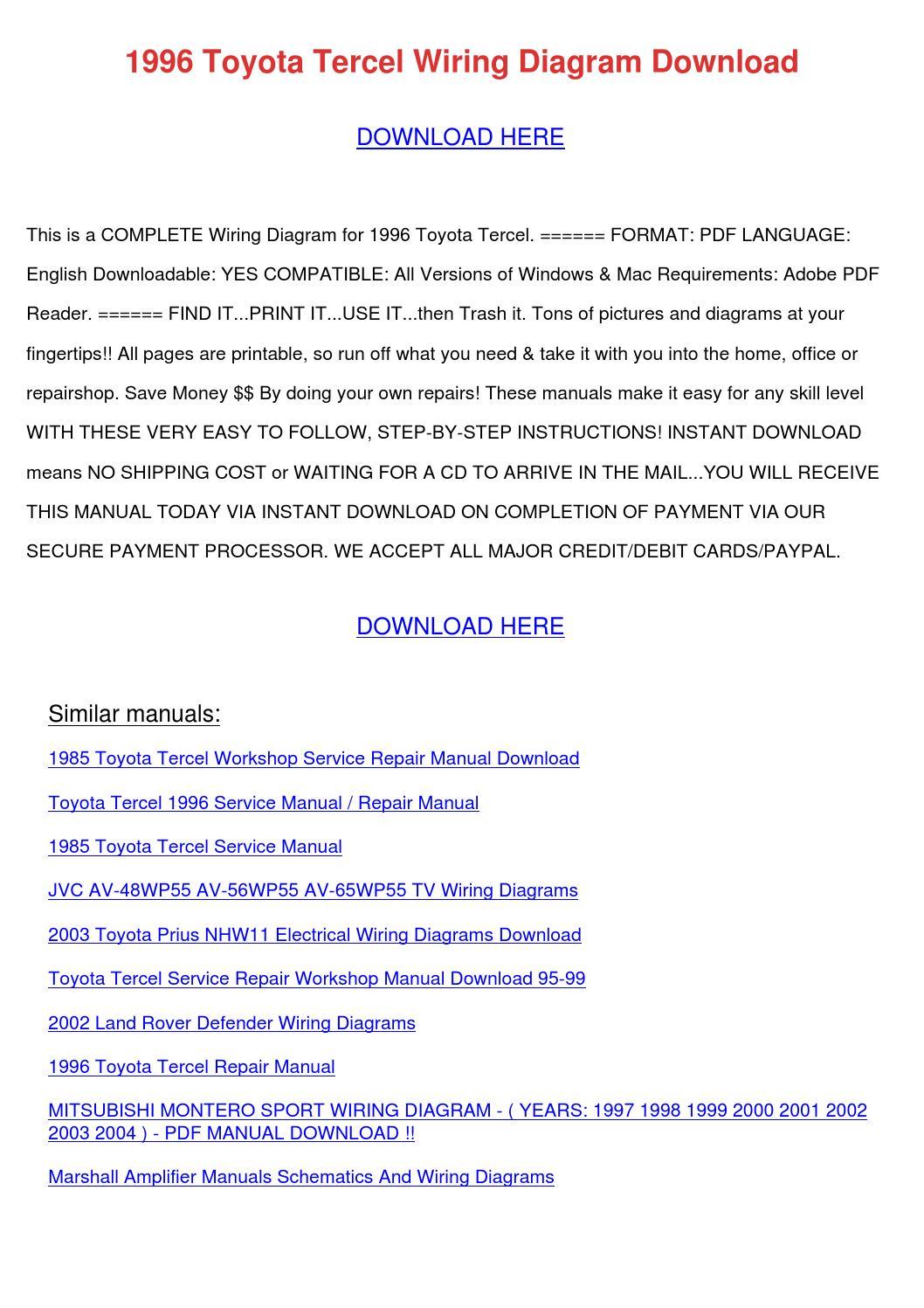 1996 Toyota Camry Radio Wiring Diagram 1998 Free Download Inspiring Pdf Photos Best