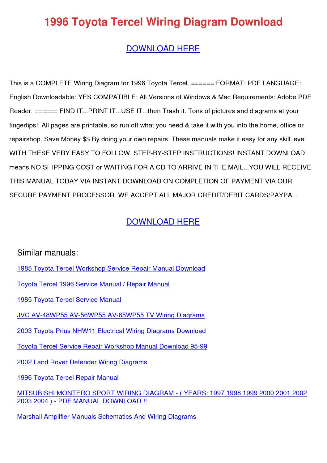 hight resolution of 1996 toyota tercel wiring diagram download by marymcclung issuu