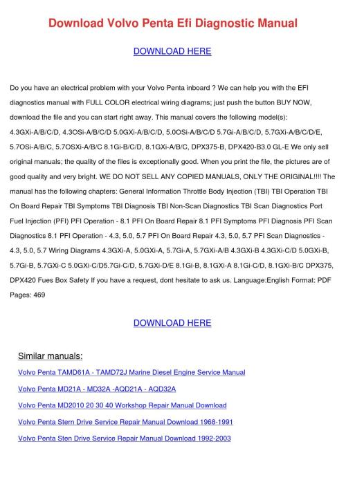 small resolution of download volvo penta efi diagnostic manual by edmundcyr issuu 5 0 gxi wiring diagram