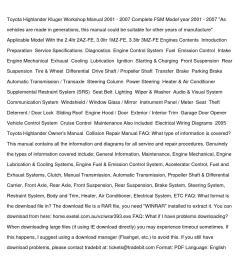 toyota highlander kluger workshop manual 2001 [ 1058 x 1497 Pixel ]