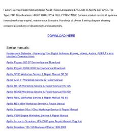 aprilia area service repair manual [ 1058 x 1497 Pixel ]