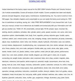 yamaha phazer venture lite 500 service manual [ 1058 x 1497 Pixel ]
