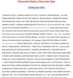 daewoo lacetti nubira service manual 97 98 99 by melvinmcvey issuu daewoo lacetti stereo wiring diagram  [ 1058 x 1497 Pixel ]