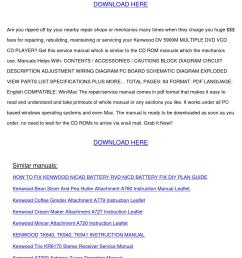 service manual kenwood dv 5900m multiple dvd [ 1058 x 1497 Pixel ]