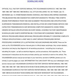 vw volkswagen scirocco factory service manual [ 1058 x 1497 Pixel ]