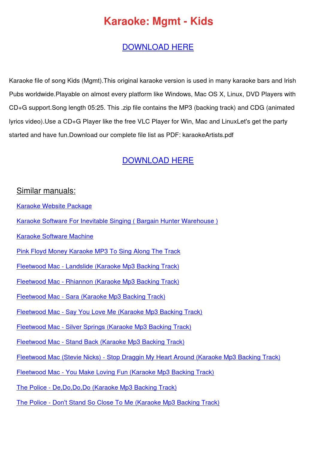 Karaoke Mgmt Kids by NikoleNunley - issuu