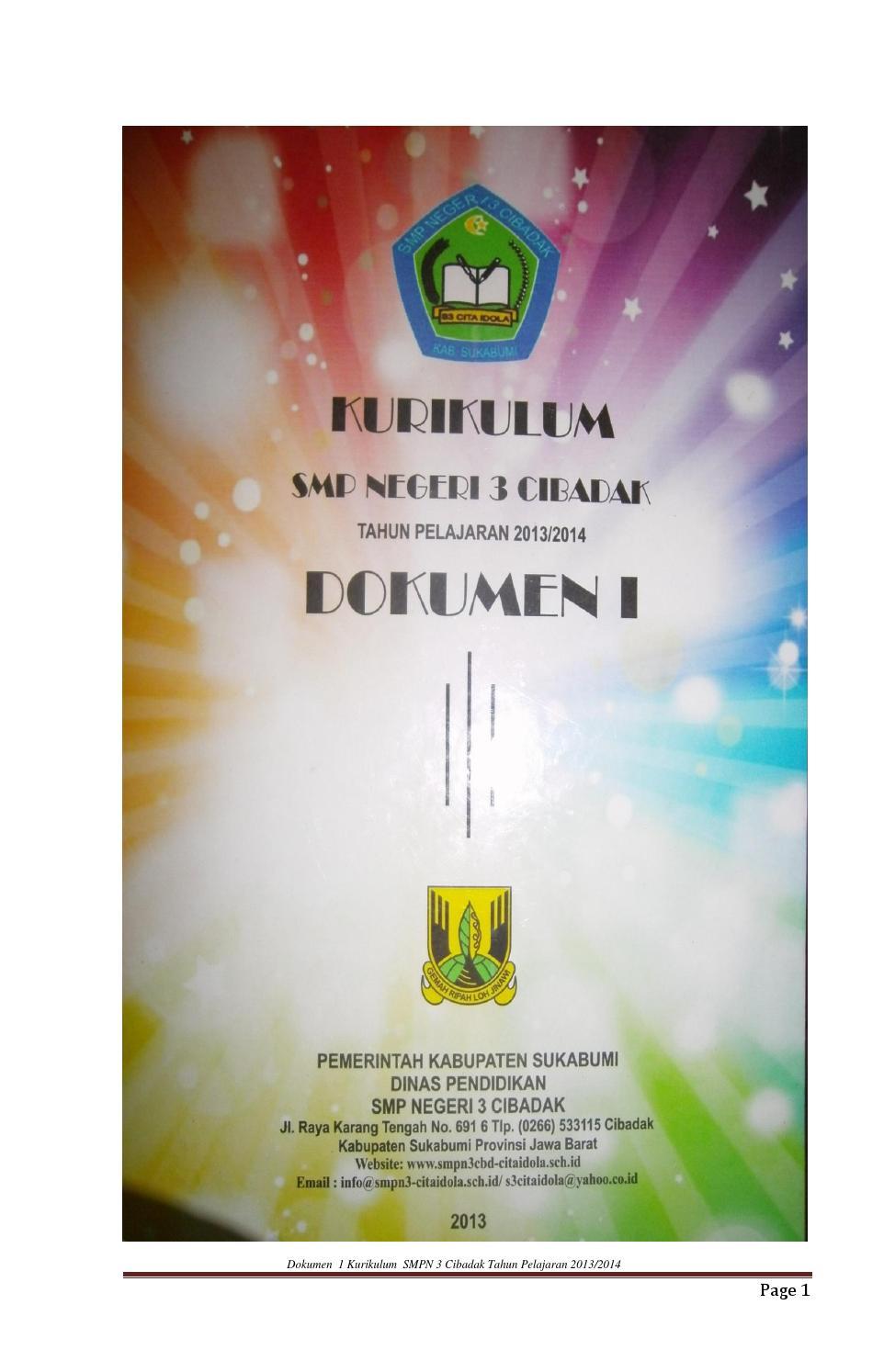 Dokumen 1 Kurikulum 2013 Sma : dokumen, kurikulum, Dokumen, Cibadak, Revisi, Vebuka.com