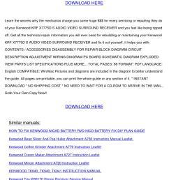 repair manual kenwood krf x7775d s audio vide by rafaelmontgomery issuu [ 1058 x 1497 Pixel ]