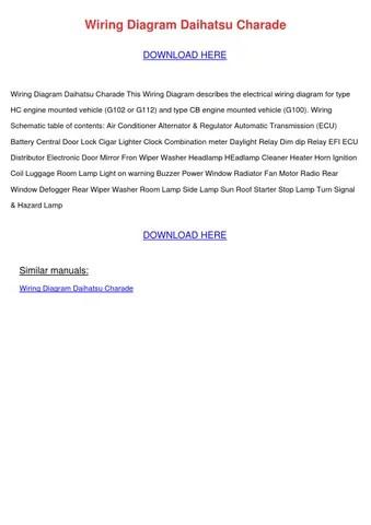 workshop manual online wiring diagram daihatsu charade by  kristoferkeeney - issuu
