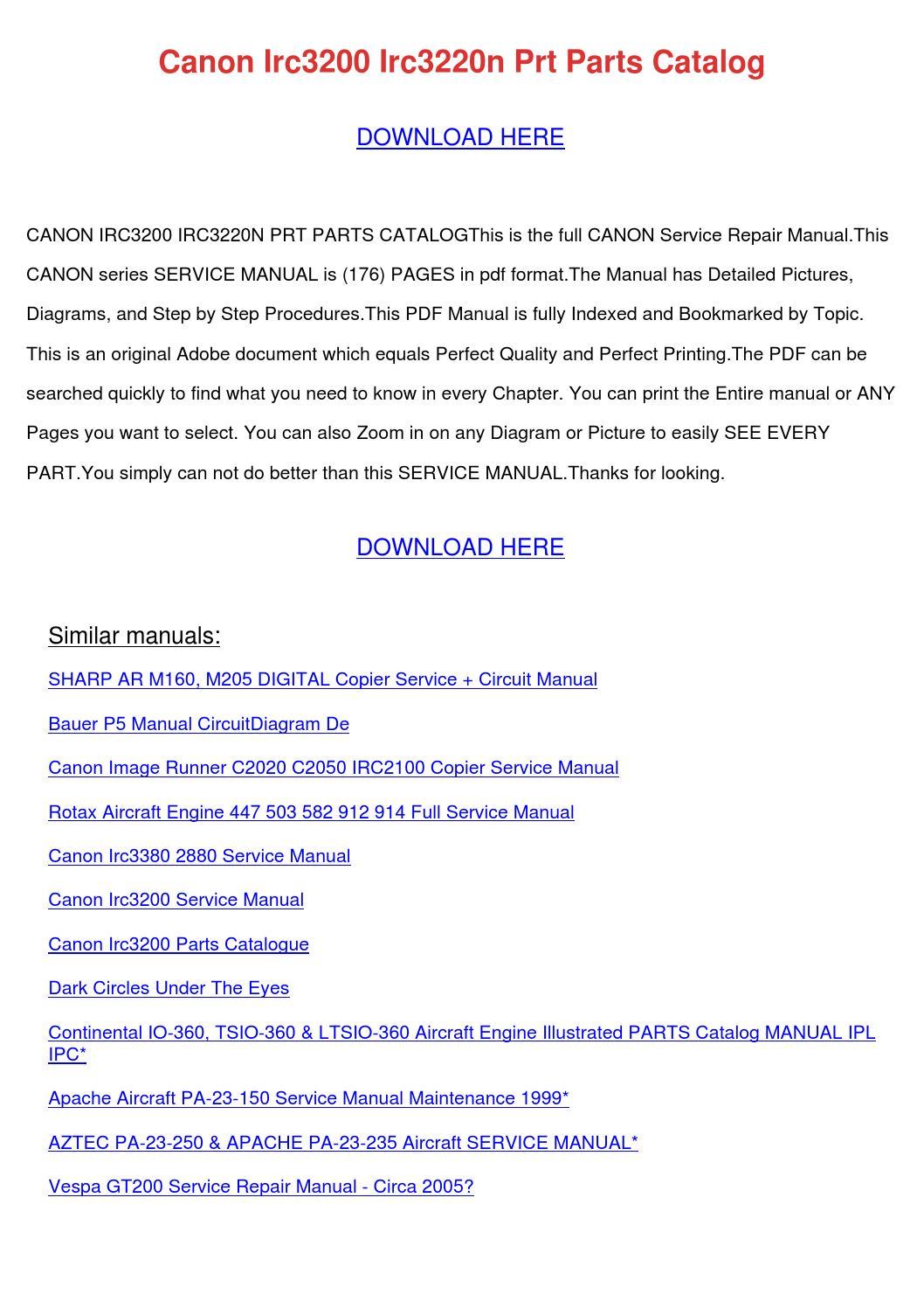 hight resolution of  array canon irc 3200 parts manual rh lmfiicmatua gq