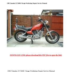 1983 Yamaha Virago Xv500 Wiring Diagram Pyromation Rtd Xv500k Workshop Repair Service Manual