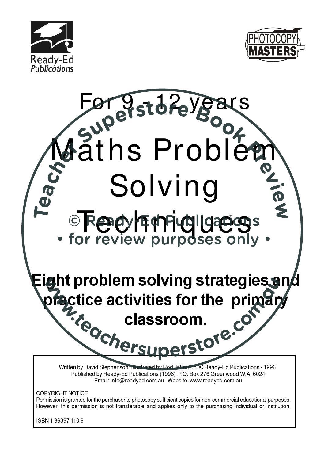 ️ Maths problem solving techniques. Math Problem Solving