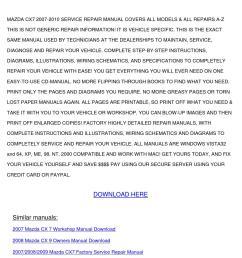 mazda cx7 2007 2010 service repair manual by shonarousseau issuu [ 1058 x 1497 Pixel ]