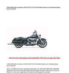 1984 1998 harley davidson 1340 flh flt fxr all models motorcycle workshop repair service manual by [ 1058 x 1497 Pixel ]