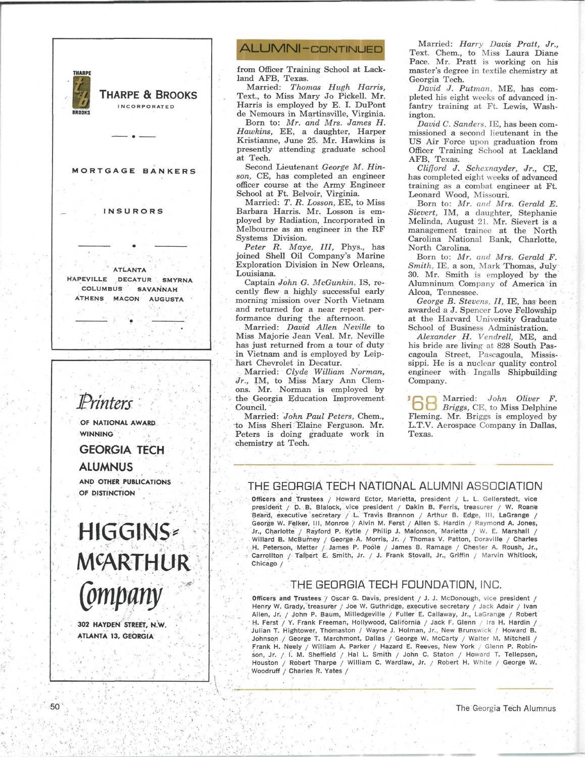 Georgia Tech Alumni Magazine Vol. 46, No. 02 1967 by