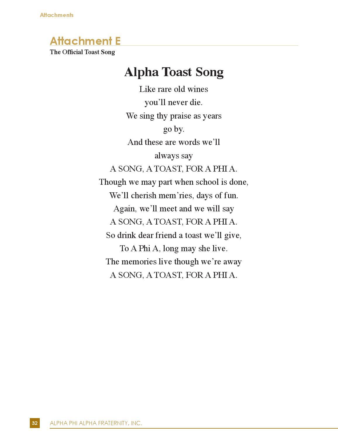 Alpha Phi Chant : alpha, chant, Alpha, Protocol, Etiquette, Manual, Fraternity, Issuu
