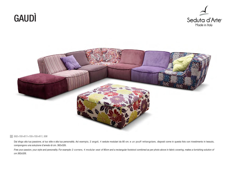 Typenplan Gaudi Sofa Seduta dArte by Toni Mulas  Issuu