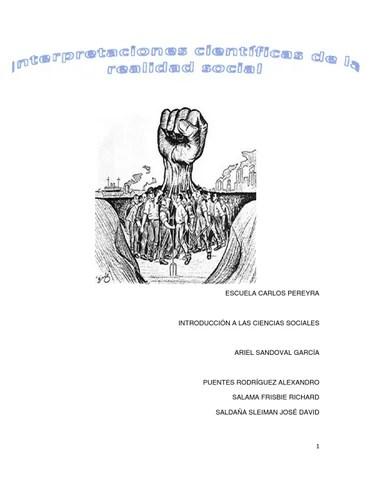 Interpretaciones científicas de la realidad social by