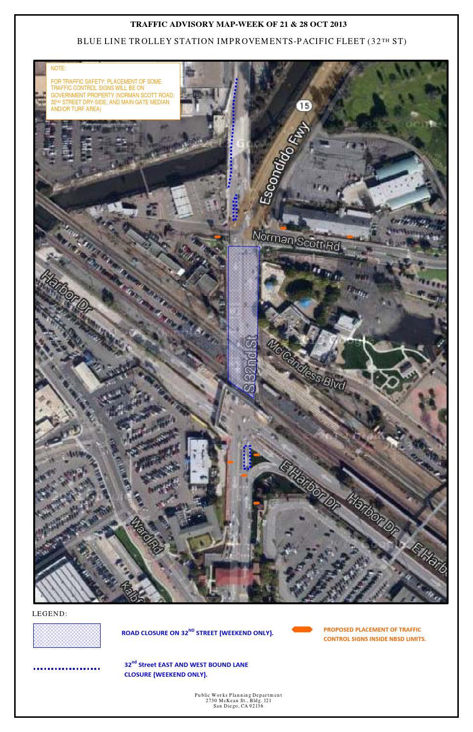 32nd Street Naval Base Map : street, naval, Closure, Naval, Diego, Issuu