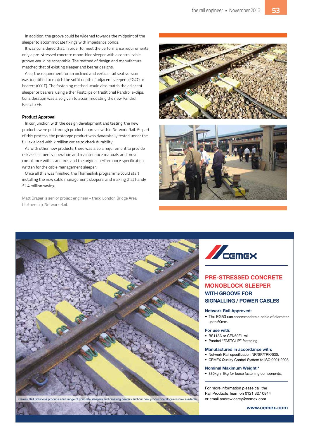 The Rail Engineer  Issue 109  November 2013 by Rail