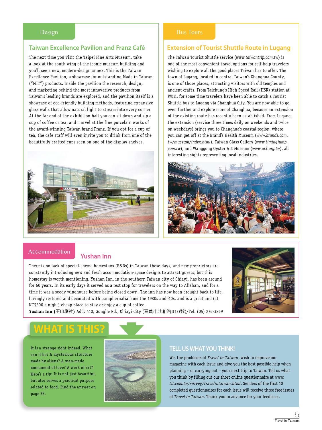 Travel In Taiwan No 53 2012 9 10 By Travel In Taiwan Issuu