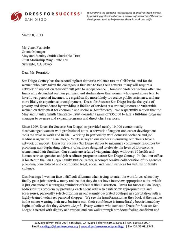 Sample Grant LOI (Letter of Intent) by Derek Floyd, M.A. - issuu