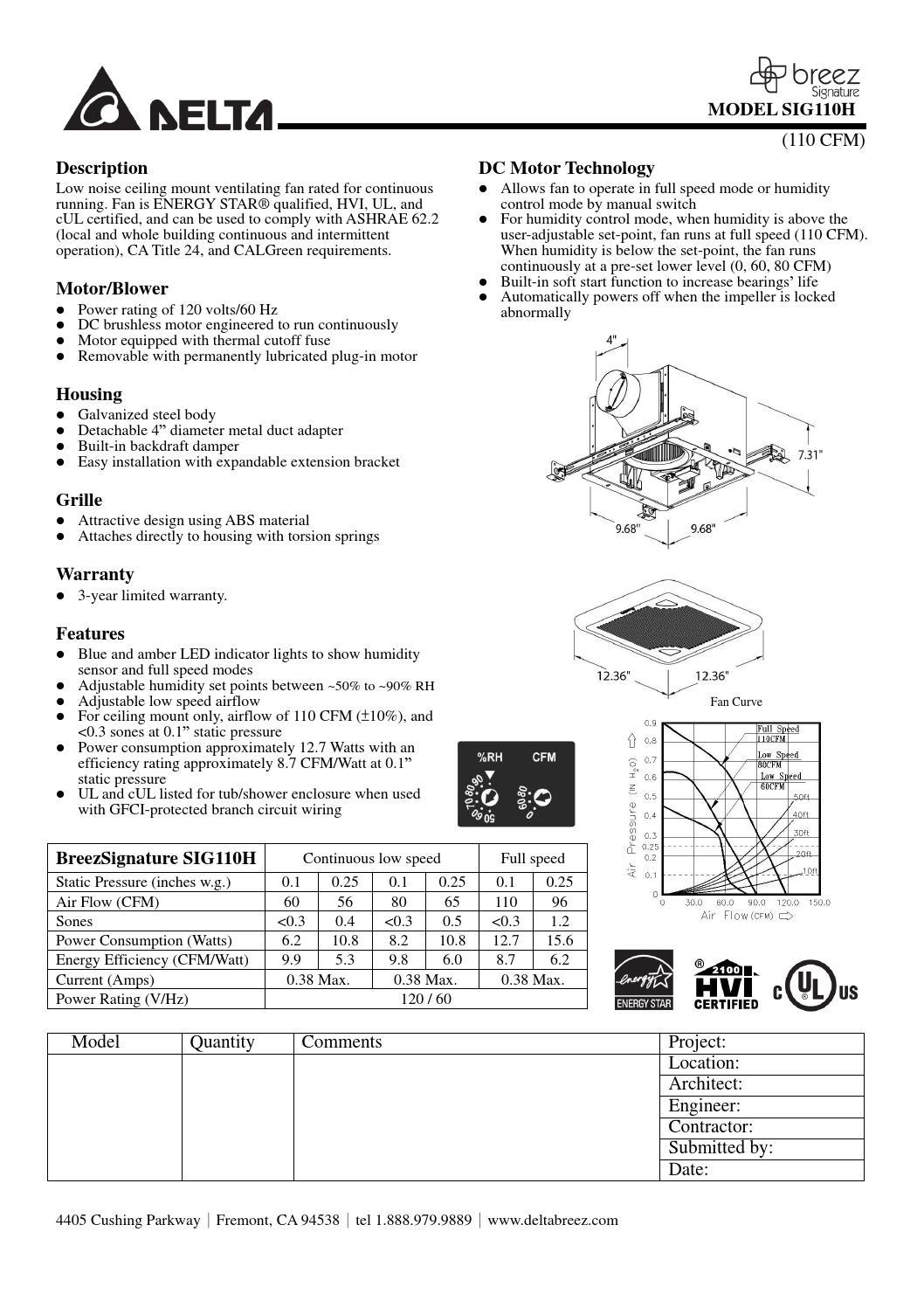 Hoja de presentacion ventilacion con sensor de humedad