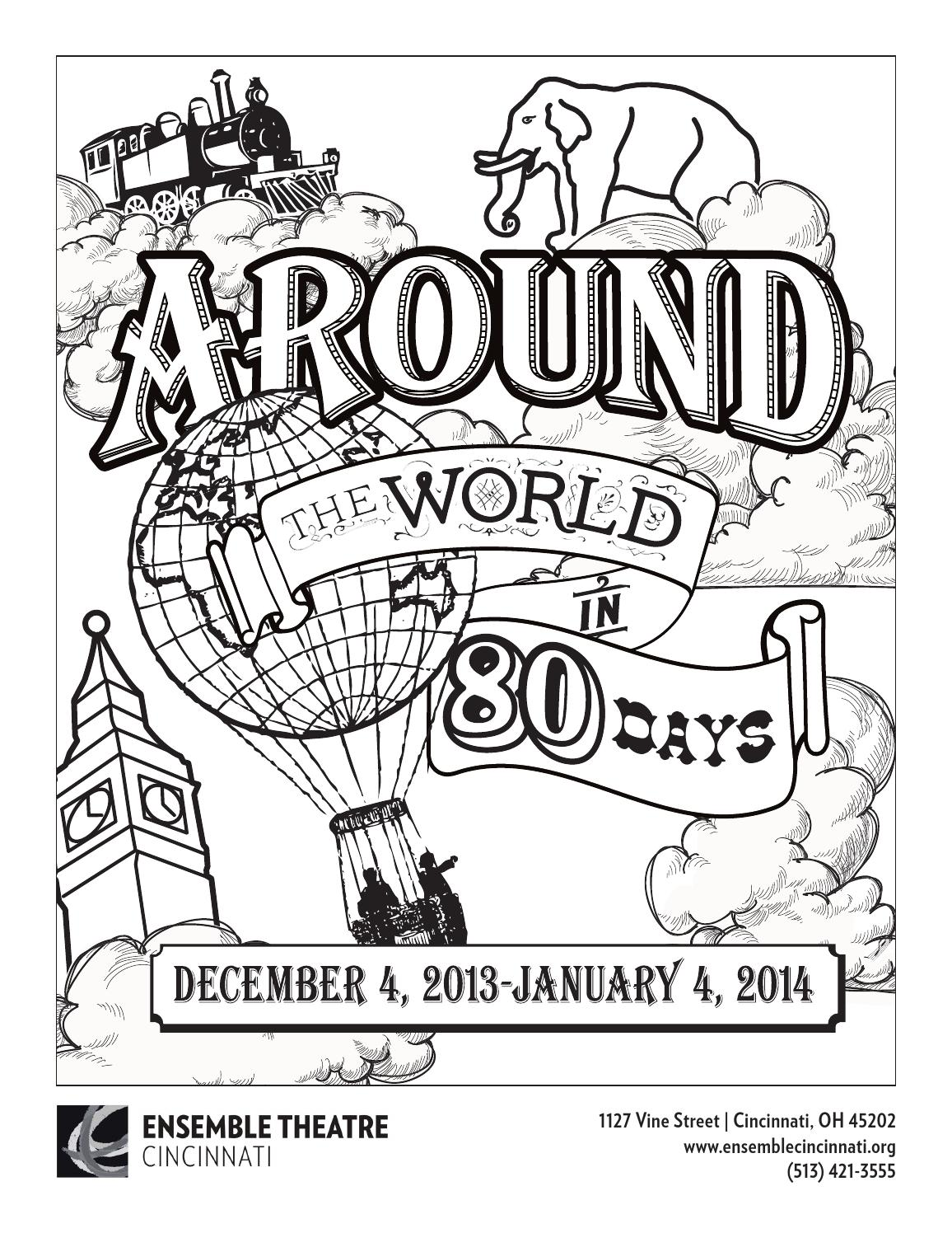 Around the World in 80 Days Coloring Page by Ensemble