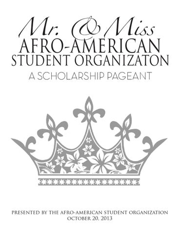Mr. and Miss AASO Scholarship Pageant Book by Eryka