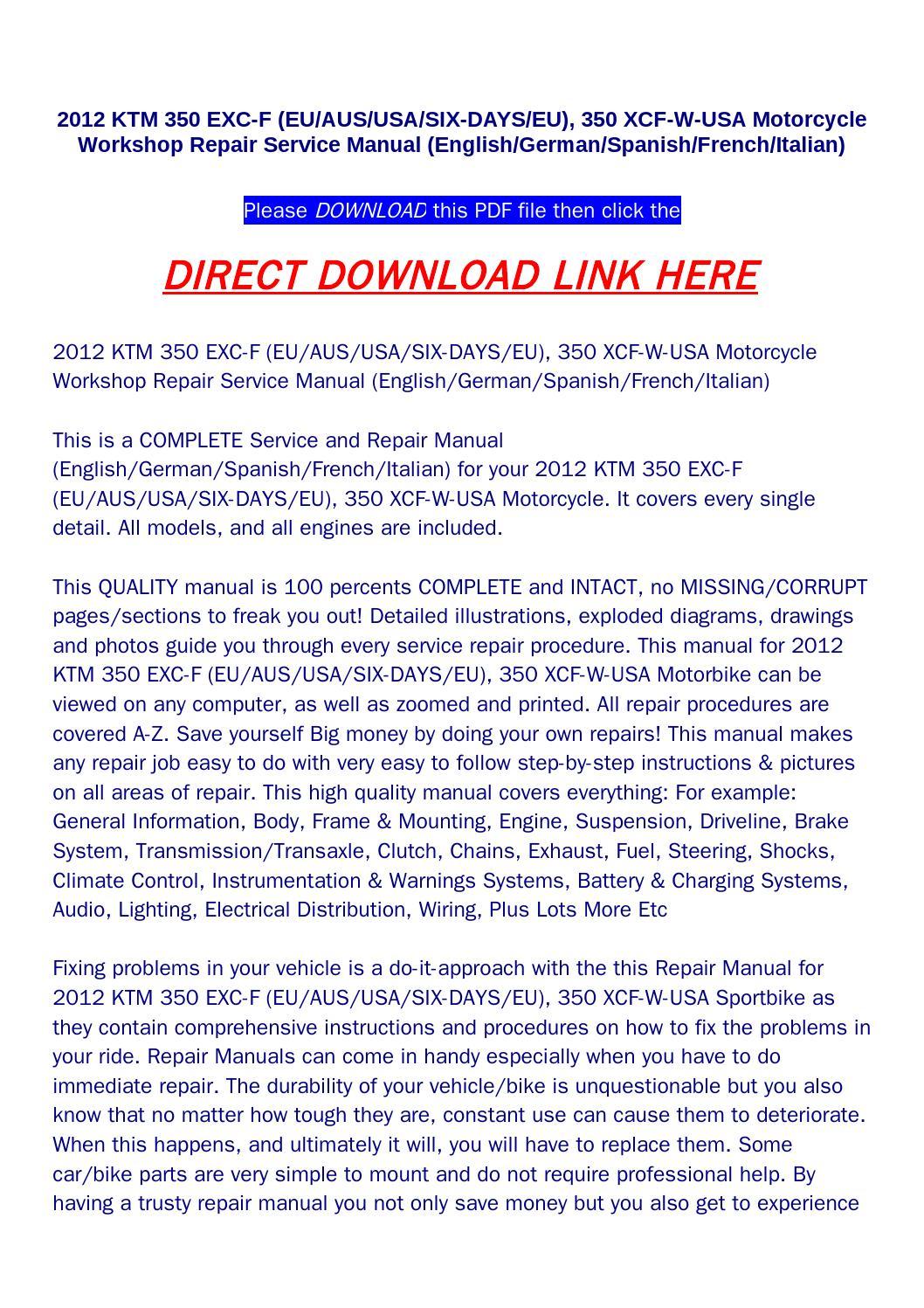 hight resolution of 2012 ktm 350 exc f eu aus usa six days eu 350 xcf
