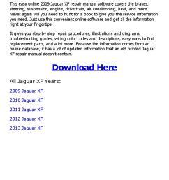 2009 jaguar xf repair manual online [ 1156 x 1496 Pixel ]