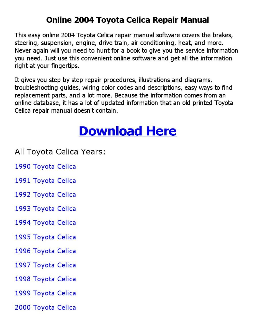 medium resolution of 1999 toyotum celica engine diagram