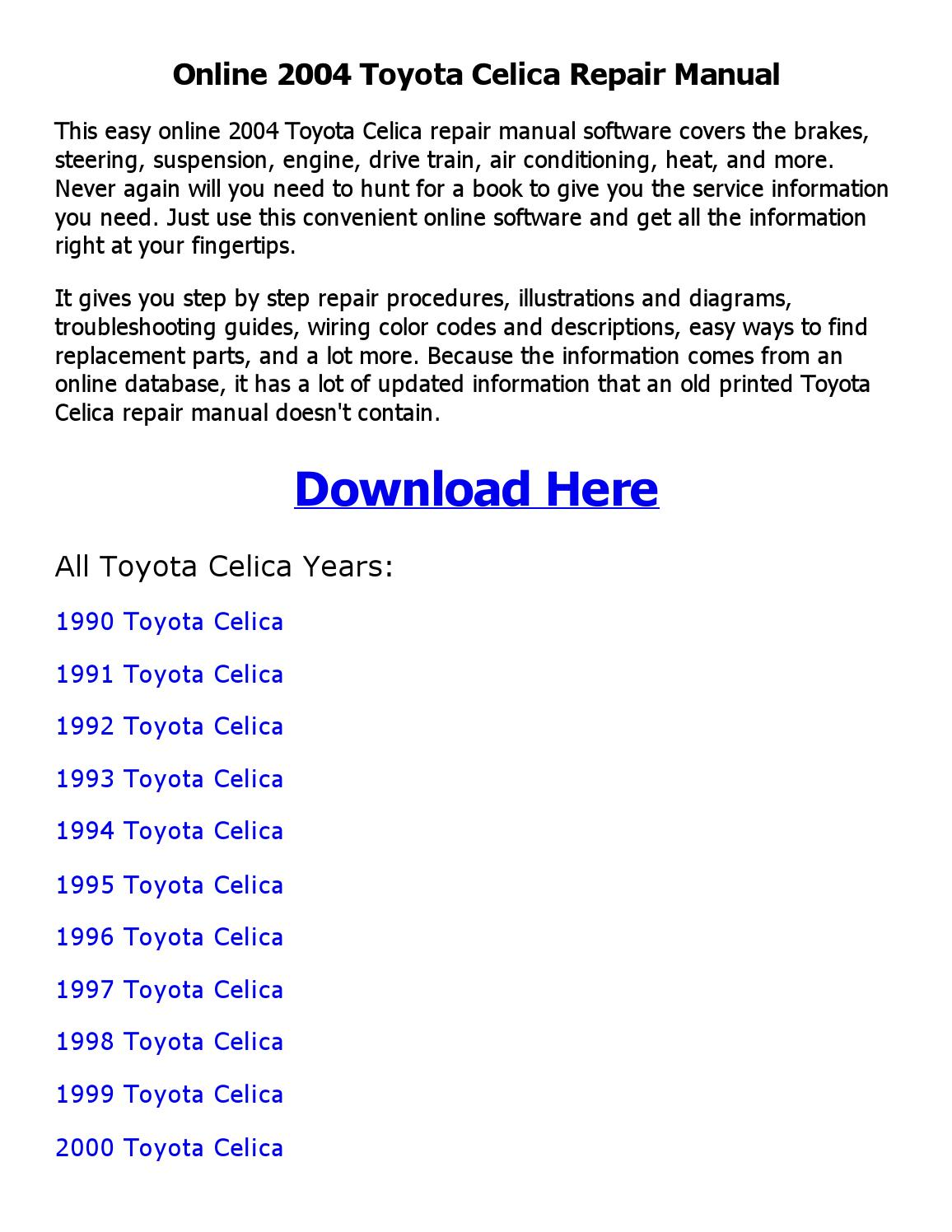 hight resolution of 1999 toyotum celica engine diagram
