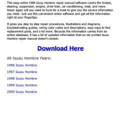 1996 isuzu hombre wiring diagram [ 1156 x 1496 Pixel ]