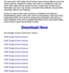 2000 dodge grand caravan repair manual online [ 1156 x 1496 Pixel ]