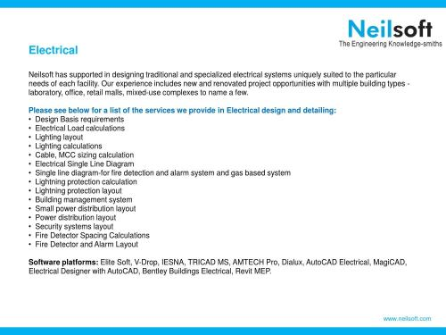 small resolution of electrical design and detailed engineering at neilsoft by neilsoft limited issuu
