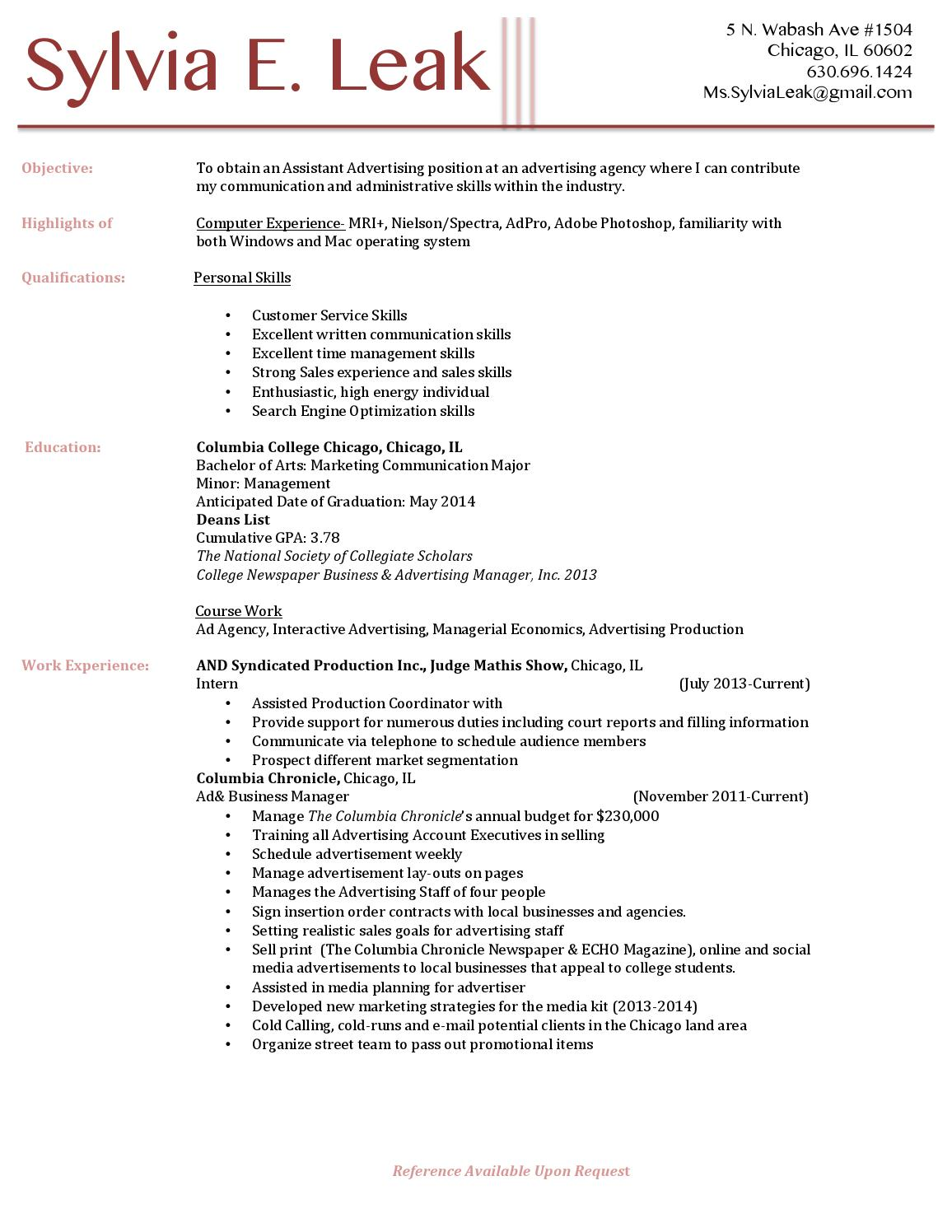 Search Engine Optimization Resume Examples Resumè By Sylvia Leak Issuu