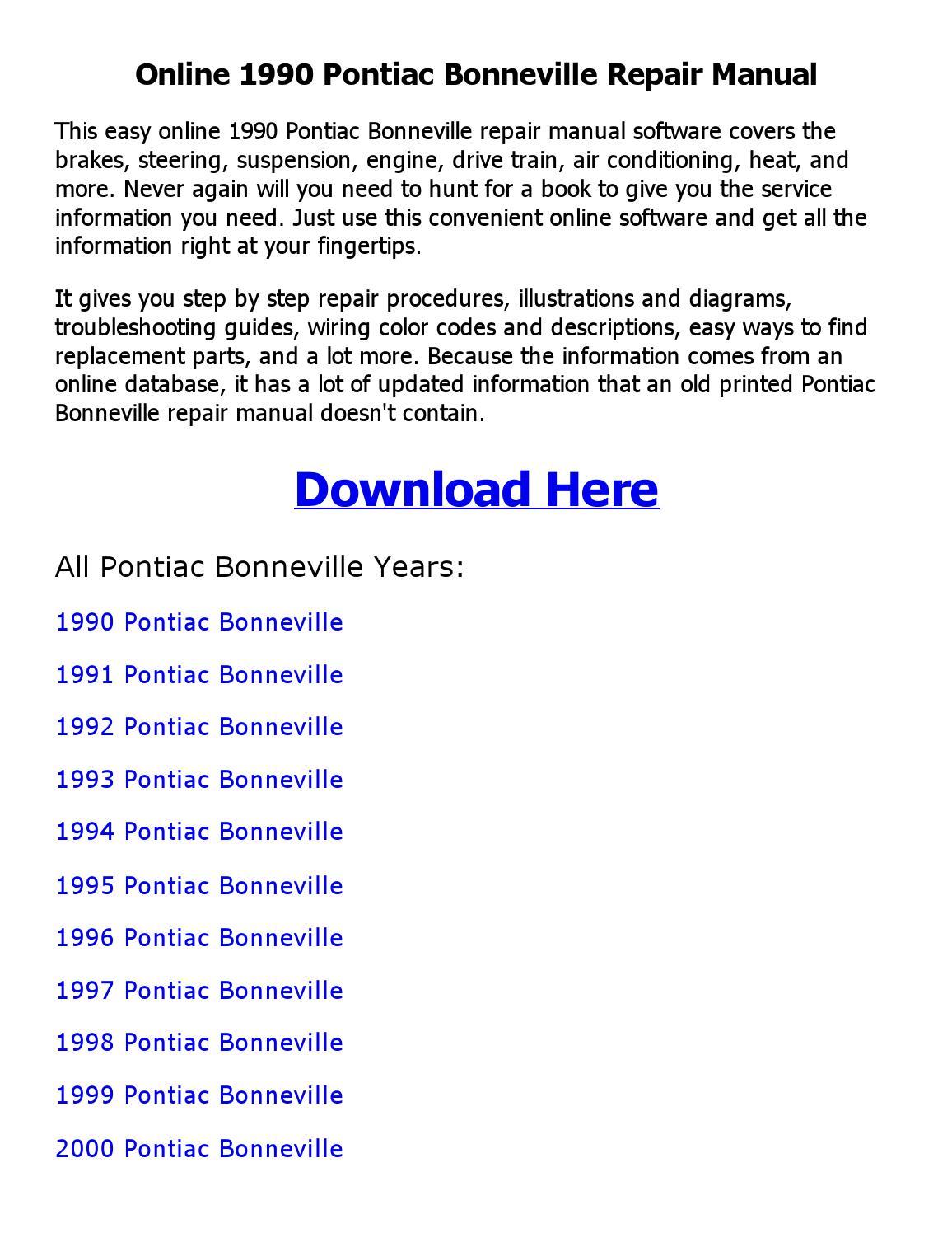 hight resolution of 1990 pontiac bonneville wiring diagram