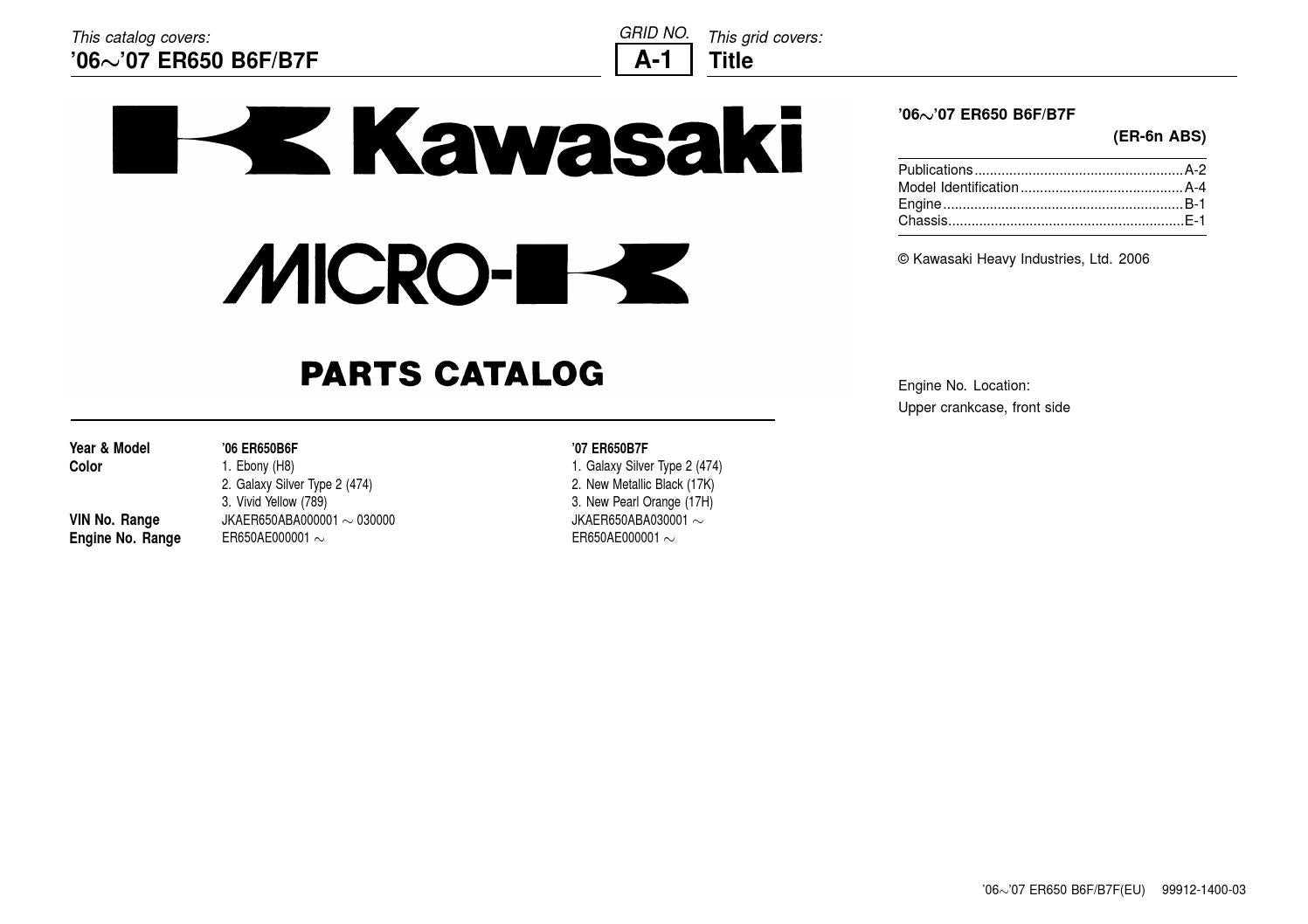 Kawasaki er 6n 06 07 abs parts diagram by Marcelo Celeste