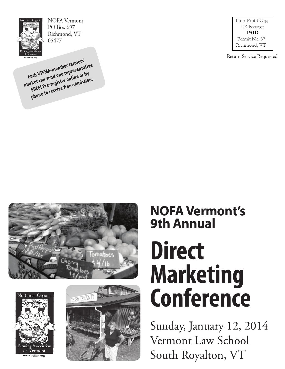 NOFA Vermont 2014 Direct Marketing Conference by NOFA